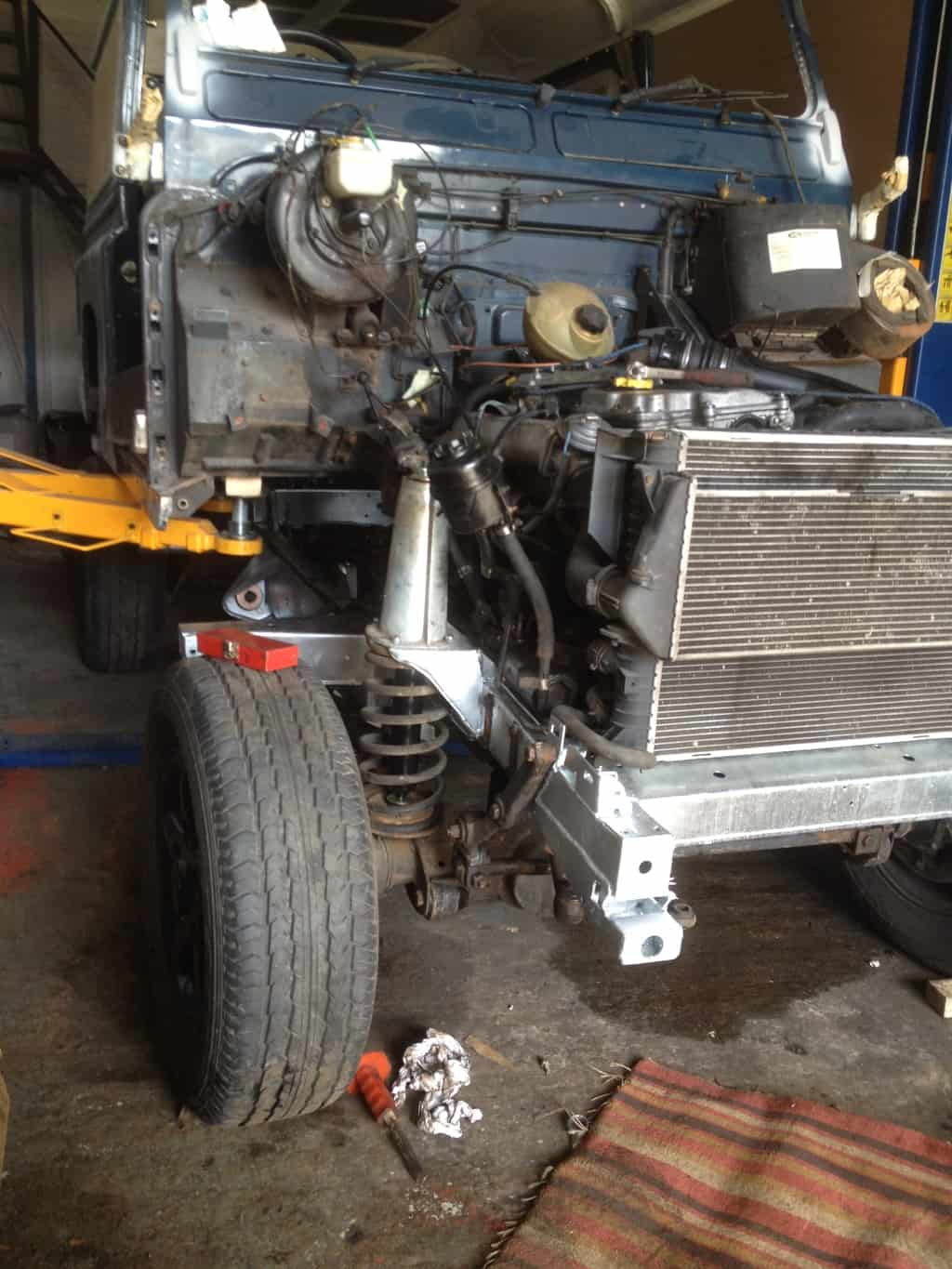 defender 90 td5 chassis replacement | Alpine Restorations ...